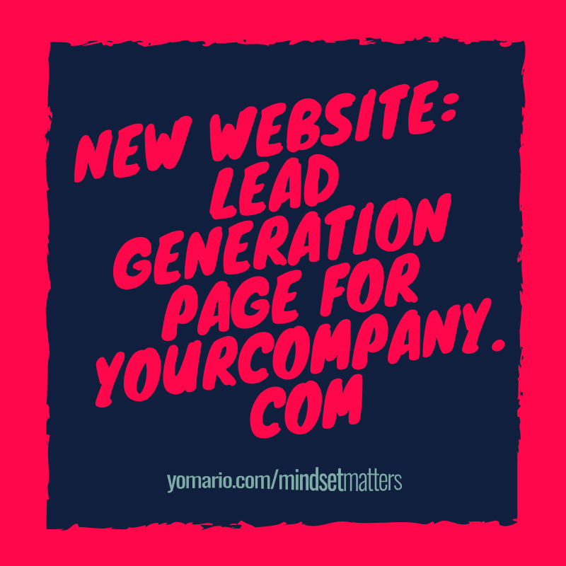 New Website: Lead Generation Page for Your Brand